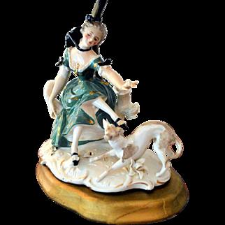 Dresden Germany Lamp Porcelain Figural