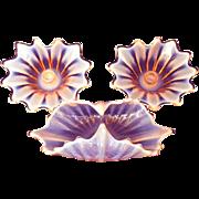 Fostoria Heirloom Console Set Pink Opalescent