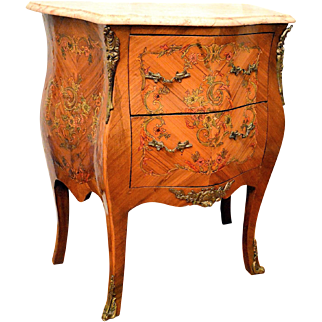 French Louis XV Bombay Ormolu Commode, Chest, Cabinet