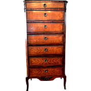 French Louis XV Style Lingerie Semainer Chest 1890's