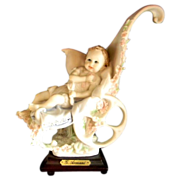 "Giuseppe Armani Porcelain Figurine ""First Ride"" Baby in Stroller Magic Memories 1986"