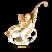 "Giuseppe Armani Porcelain Figurine ""First Ride"" Baby in Stroller Magic Memories 1986"