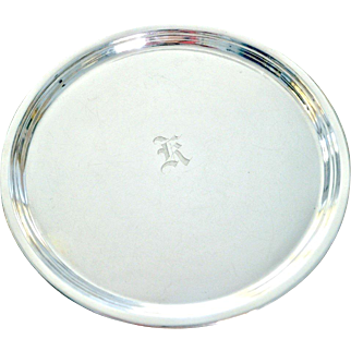 J E. Caldwell Sterling Silver Tray with Bun Feet