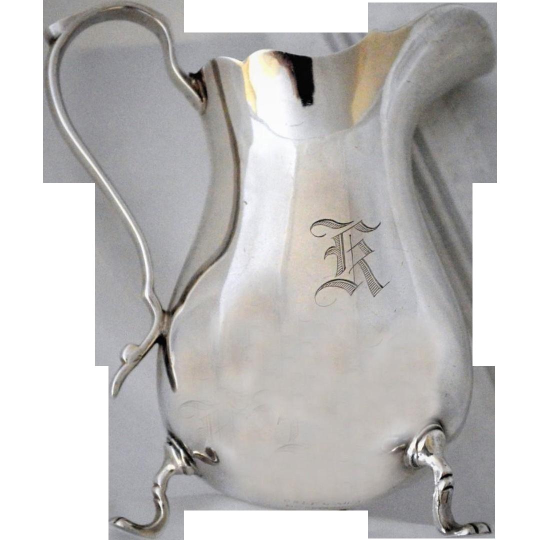 J. E. Watson Sterling Silver Creamer Exemplar 1915