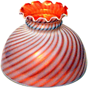 Light Globe Cranberry Opalescent