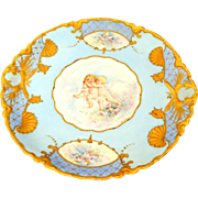 Limoges Haviland Charger with Cherubs 11""