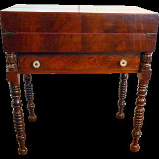 Antique Flame Mahogany Campaign Desk