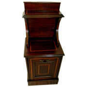 Mahogany Coal Box Shuttle/Bin with Satinwood Line Inlay 1900