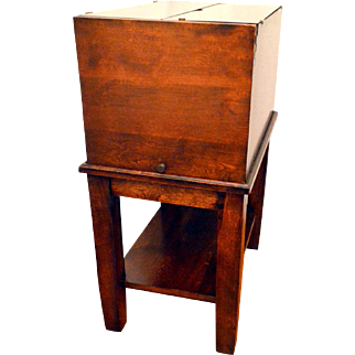 Mahogany File Cabinet on Stand