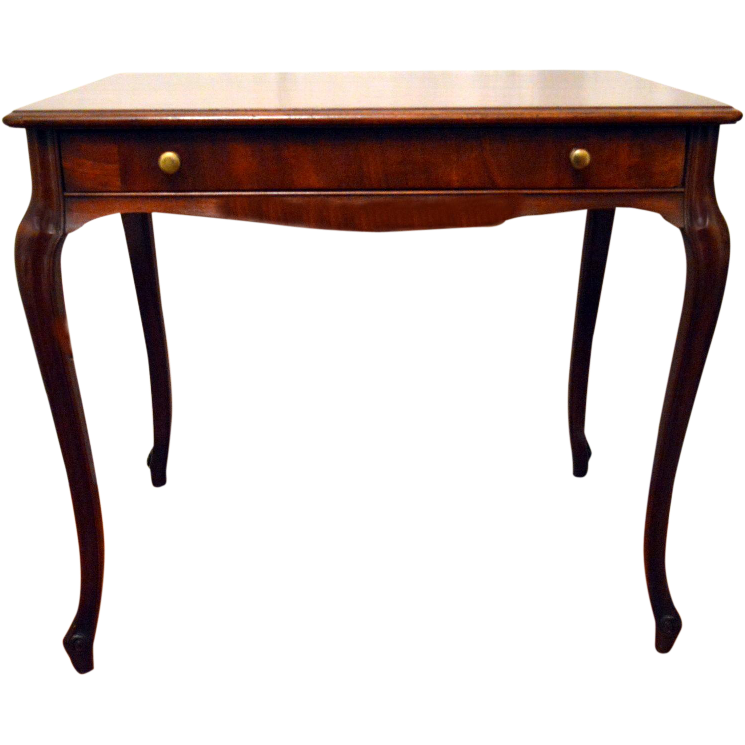 Awesome Mahogany Library Table Desk When Drawer Is Opened Pooley Furniture Co.