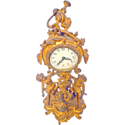 New Haven Clock with Cherubs/Putti Gold Gilt