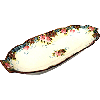 Nippon Moriage Beaded Dish Late 1800's