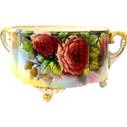 Noritake Cachepot, Ferner, Vase with Roses