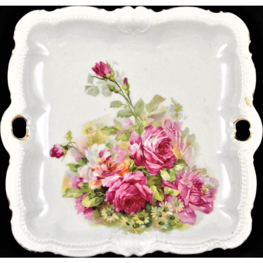 PM Porzellanfabrik Moschendorf Bavaria Antique Dish Plate