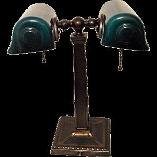 Partners Bankers Double Desk Lamp Verdelite 1917