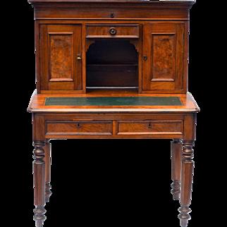 Plantation Desk Walnut 2 Piece  1840 1860