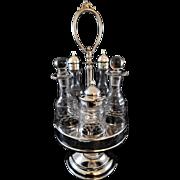Rogers Smith & Co. Silver Plate Condiment Cruet Set Six 1862-67