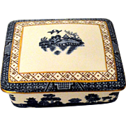 Royal Doulton Booths Real Old Willow Trinket Cigarette Box
