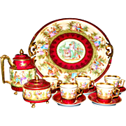 Royal Vienna Ackermann & Fritz Demitasse Set