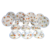 Rudolstadt Happifats Child's Tea Set Germany with 23 pcs.