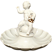 Schaubach Kunst Candy Dish with Cherub