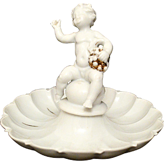 Schubach Kunst Candy Dish with Cherub