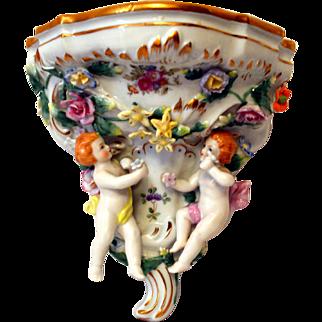 Sitzendorf Voigt Brothers Porcelain Wall Shelf