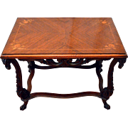 Tea Table Mahogany with Marquetry