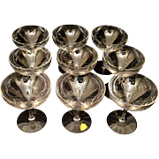 Tiffin Vintage Champagne/Sherbet Glasses (9)