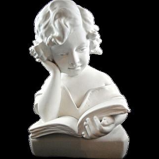 Victorian Reading Girl Latex Fiberglass Mold Concrete Plaster