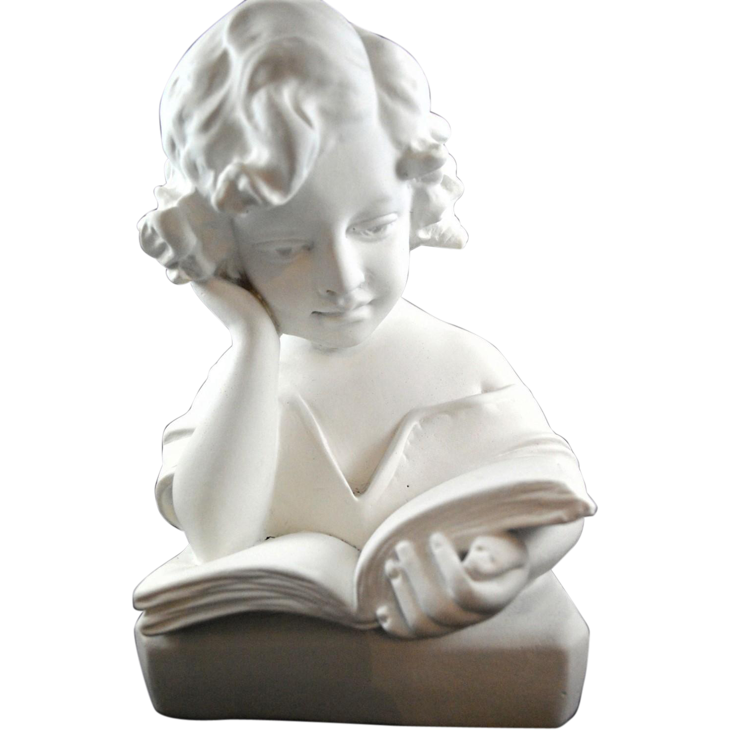 Victorian Reading Girl Latex Fiberglass Mold Concrete Plaster