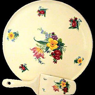 Vintage Erphila Art Pottery Dessert Platter Cake Plate Salver