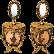 Vintage Gilt Ormolu Matson Perfume Bottles Cherubs