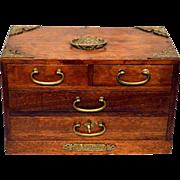 Vintage Music Jewelry Box Chest