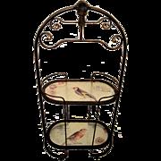 Vintage Patisserie Display Glass Rack