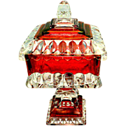Vintage Westmoreland Ruby Wedding Candy Compote Dish
