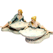 Sitzendorf Voigt Brothers Figural Sweetmeat Bowls