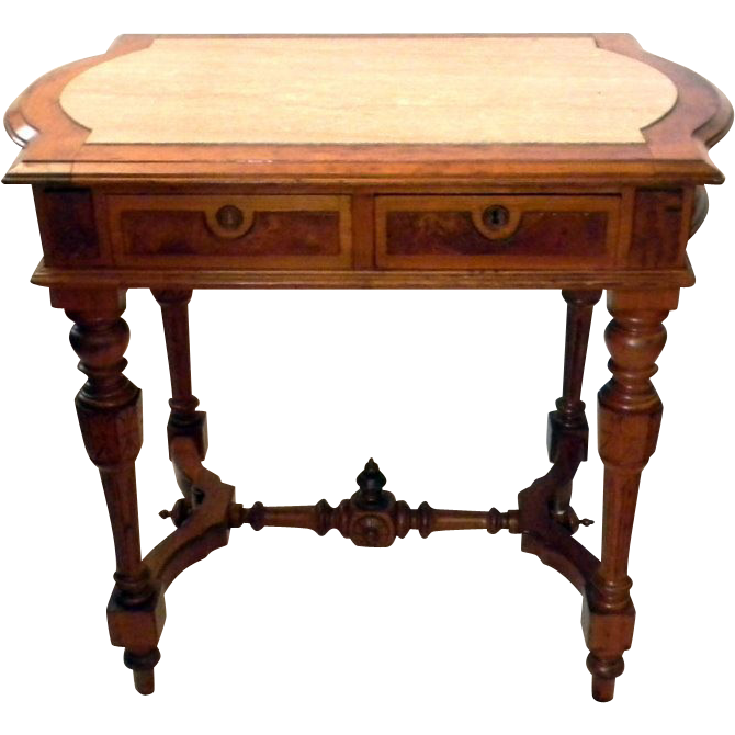 Partners desk solid mahogany antique partners desk howard for Classic library table