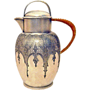 Wilcox Syrup Water Pitcher Silver Plate