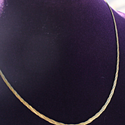 14Kt. Gold Italy Braided Chain