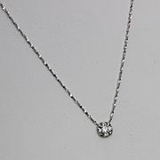 Gold 14kt. White Diamond Necklace