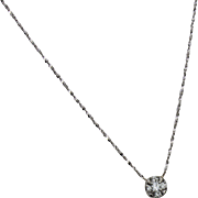 Gold 14kt. White Diamond Necklace