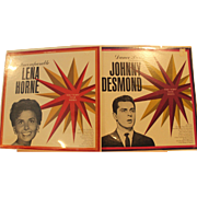 """Lena Horne  """"The Incomparable"""" and Johnny Desmond """"Dance Party"""" Sealed Vintage collectable Records"""
