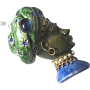Har Sultan Brooch Enamel Simulated Pearl & Cabochon