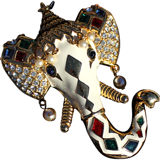 KJL Inda Royal Maharajah Elephant Brooch