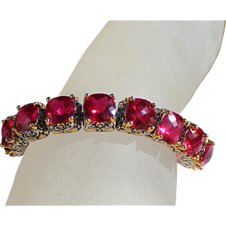 Park Lane Signature Royal Ruby Lazer Cut Bracelet