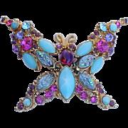 Trembler Butterfly Brooch 1950's