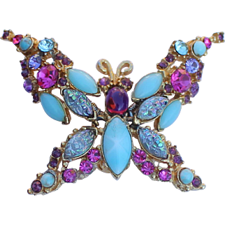 Trembler Butterfly Brooch 1950's
