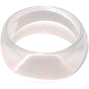 Wide Clear Lucite Bangle