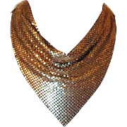 Goldtone Mesh Bib Scarf Necklace